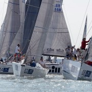 Brewin Dolphin Commodores' Cup 2014 Day 4 Thursday, 3 windward leewards sailed. Eleuthera FRA Red